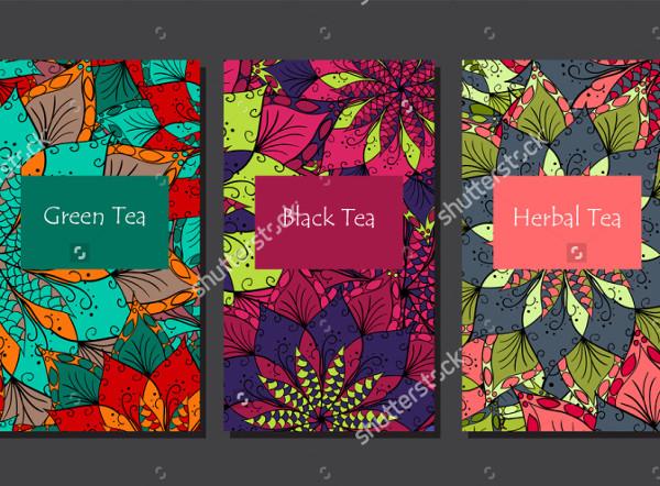 Hand Drawn Flower Mandala for Tea Package