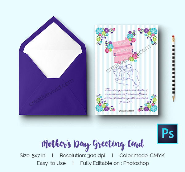 Free Download Mother's Day Greeting Card Design