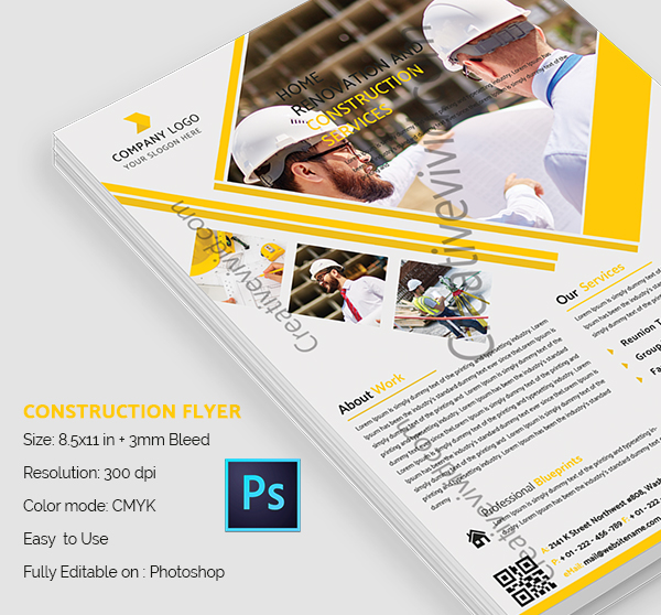 Construction Flyers Template Free