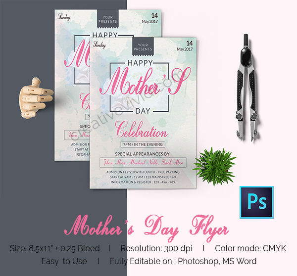 Customizable Mother's Day Flyers Free Download