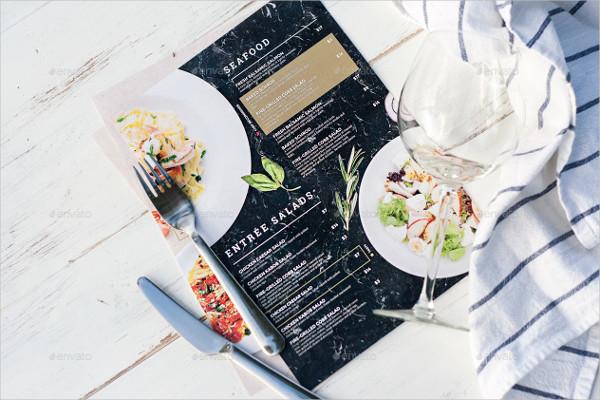 6 PSD Editable Seafood Menus