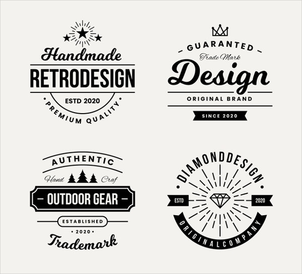 Retro Design for Logo Collection Free Download