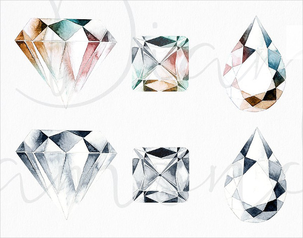 Set of High Resolution Diamond Patterns