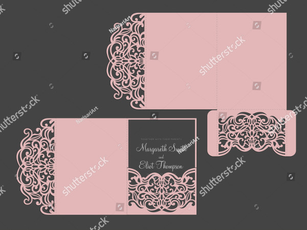 Simple Tri-Fold Wedding Invitations Design