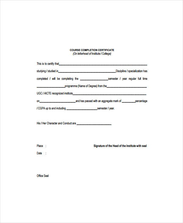 15 Certificate Templates  Free Word PDF Documents Download