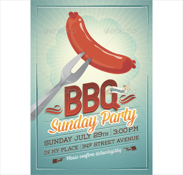 Sunday Party Invitation Template