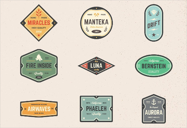 Vintage Logo Badges Download