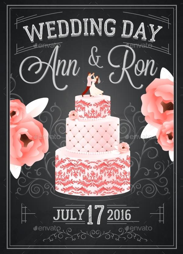 Wedding Chalkboard Poster Design Online
