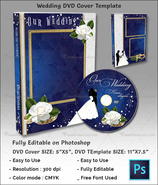 DVD Cover Template for Wedding