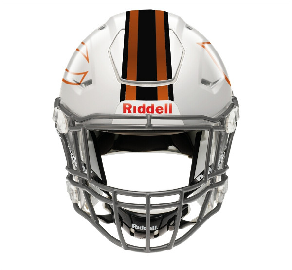 Photoshop Graphic Design Football Helmet Mock-Up