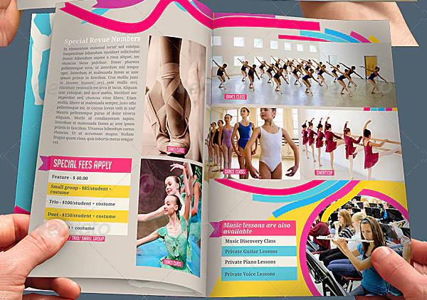 8 Pages Dance School Brochure Template