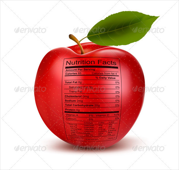Apple Nutrition Facts Label Template Download