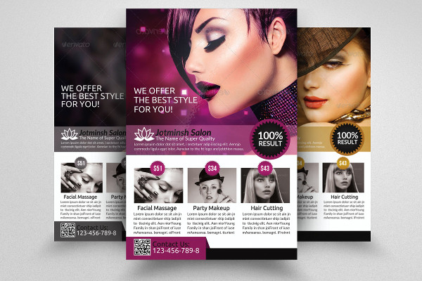 Editable Beauty Salon Flyers Template