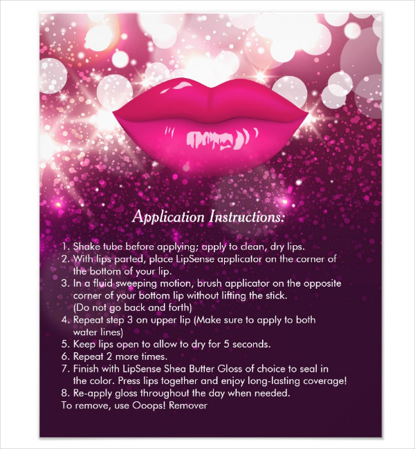 Beauty Salon Instruction Tips Flyer