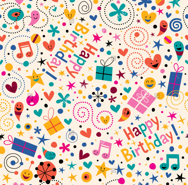 Birthday Musical Notes Pattern