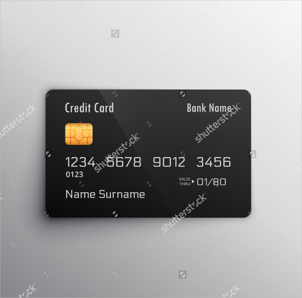 Blank Credit Card Mock-Up