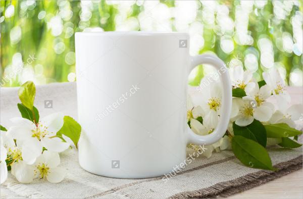 Blank Mug Printing Design Mockup