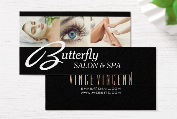 Butterfly Salon & Spa Business Card Design