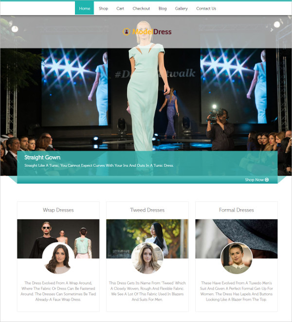 Celebrity Fashion Institutes, Clothing Stores WP Theme $79
