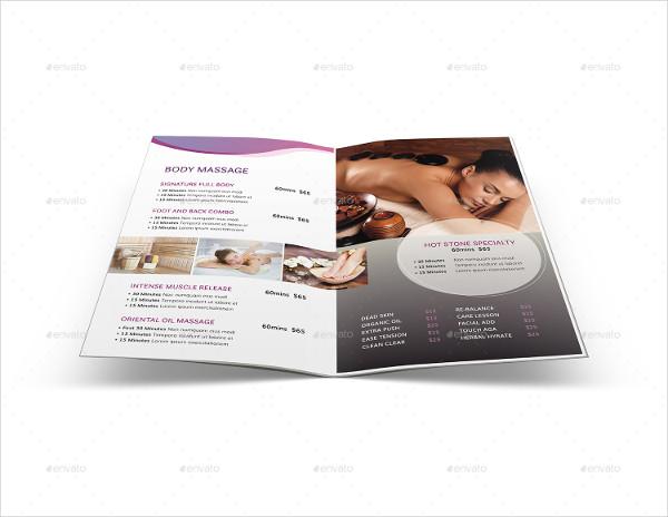 Clean Spa Menu Brochure Template