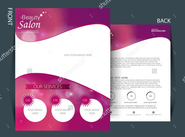 Colorful Flyer of Beauty Salon