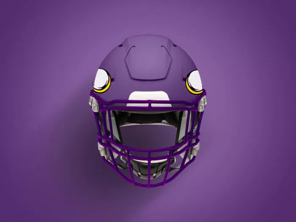 Cool Looking Football Helmet Mock-up PSD