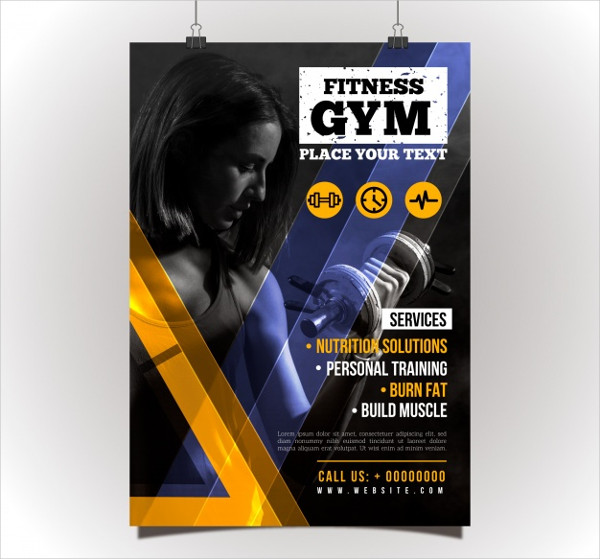 Creative Gym Flyer Template Free