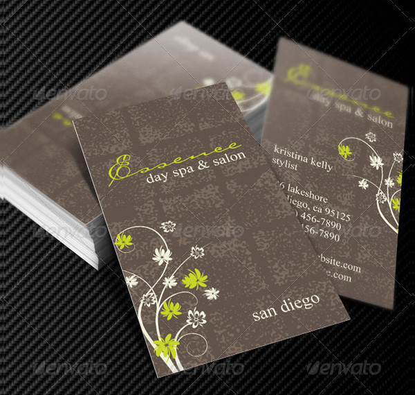 Day Spa & Salon Business Cards Template