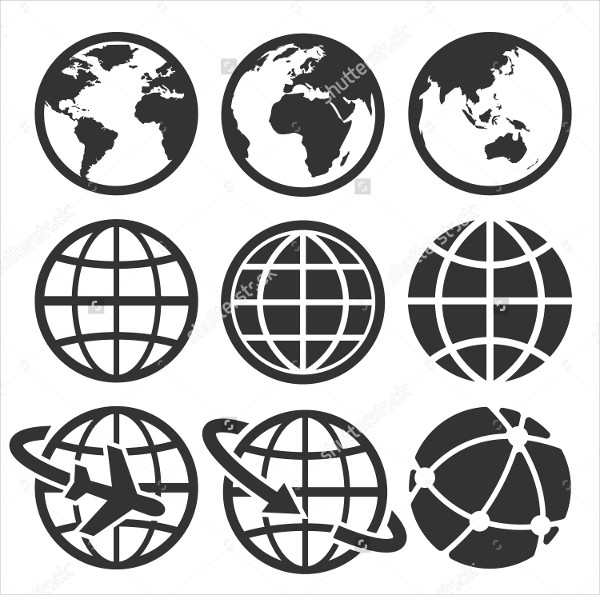 Earth Vector Icon Set
