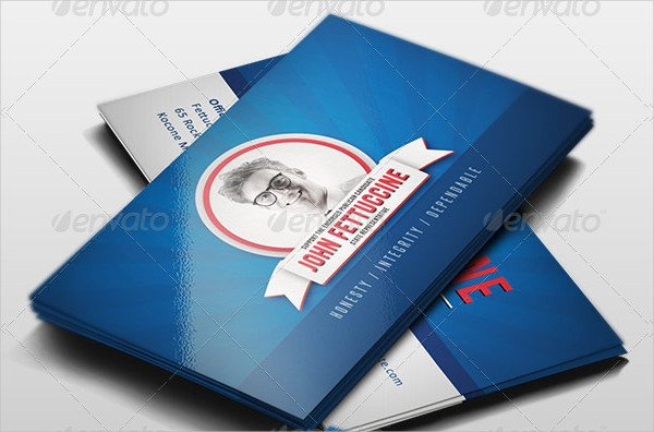 Easy to Edit Election Visiting Card Template