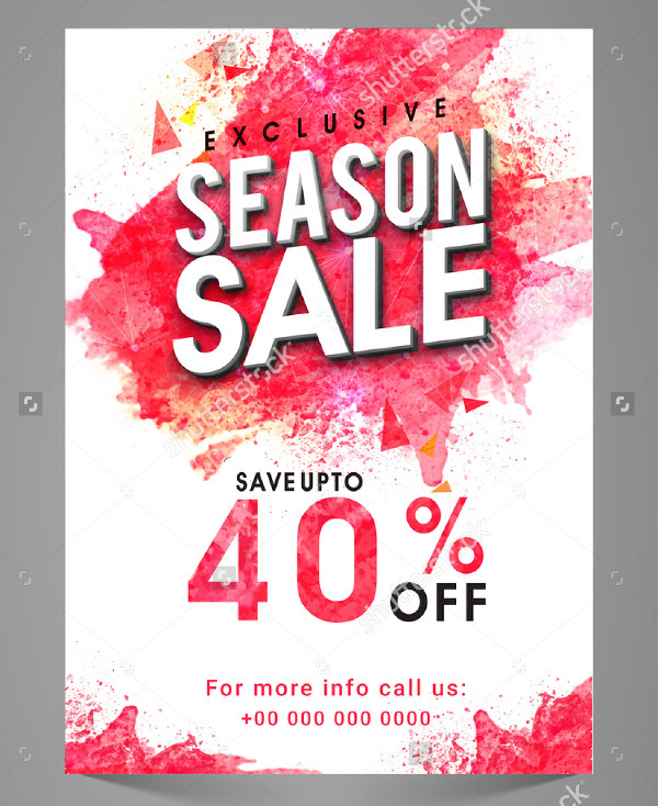 Exclusive Seasonal Sale Flyer Template