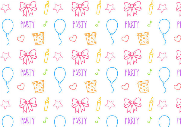 Free Birthday Party Pattern Vector