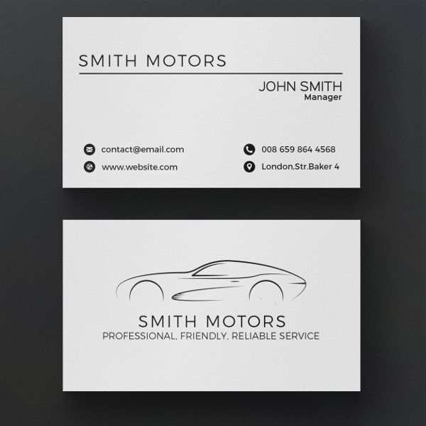 Free PSD Car Service Business Card Template