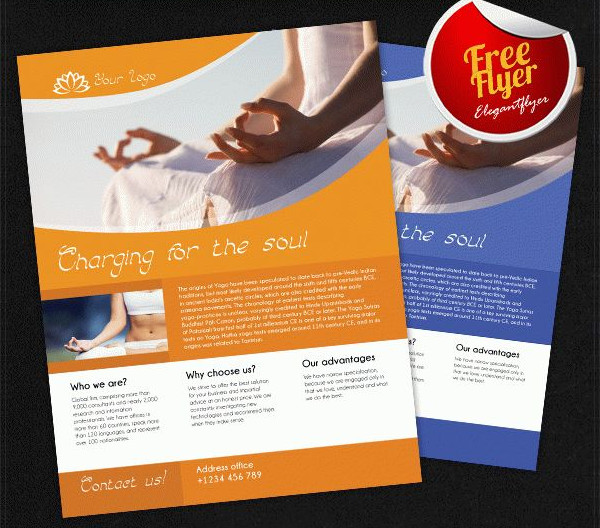 Free PSD Yoga Flyer Template