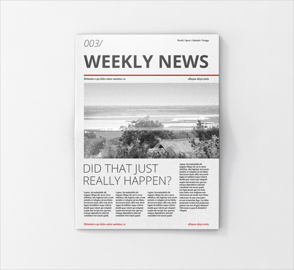 Newspaper Ad Mock-Up PSD Free Download