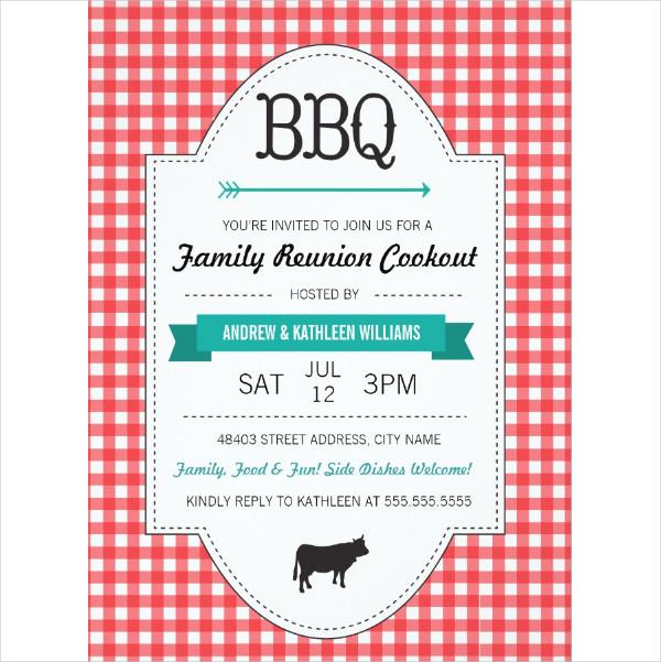 Fun BBQ Family Reunion Invitations