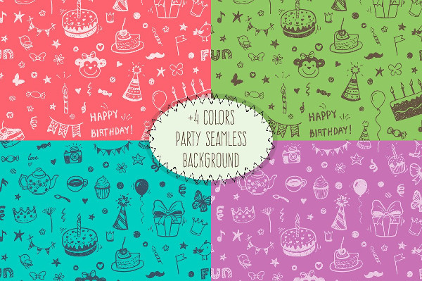 Funny Birthday Icons & Patterns