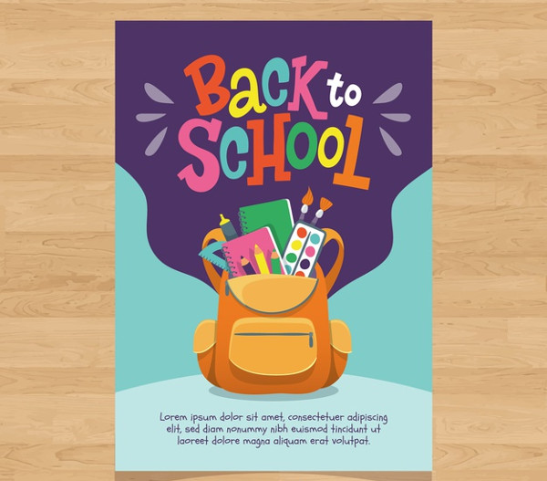 Hand Drawn Back to School Flyer Template Free Download