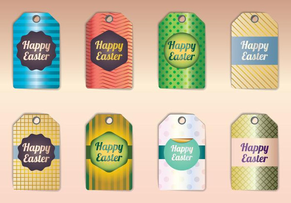 Happy Easter Gift Tags Free Download