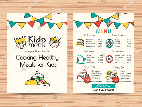 Healthy Meal Menu Templates for Kids