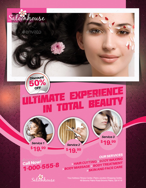 Perfect Salon House Flyer Template