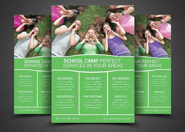 School Camp Flyer