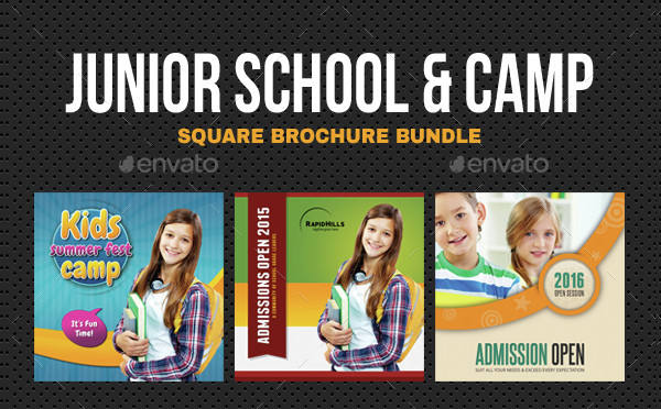 Square Summer Camp Brochures Bundle