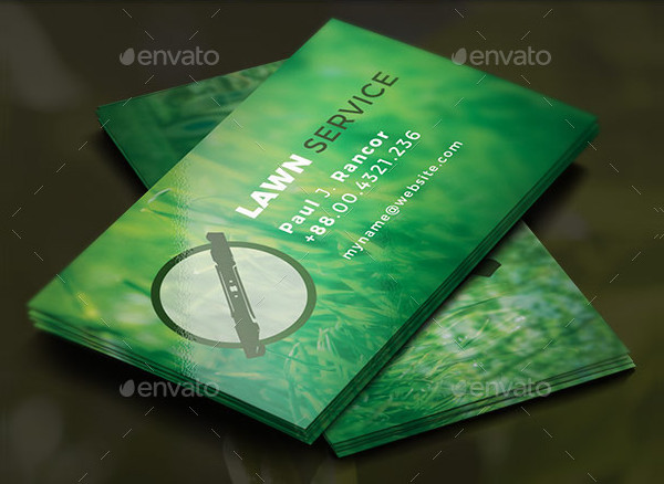 Best Lawn Service Business Card Template