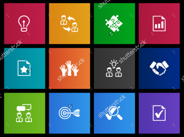 Management Icon Series Vector