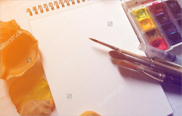 Mockup with a sketchbook
