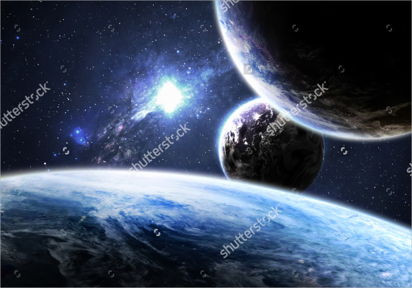 High-Resolution Space Background