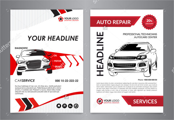 Clean Auto Flyer Template