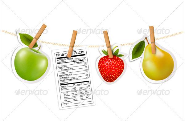 Fruit Sticker & Nutrition Label Template