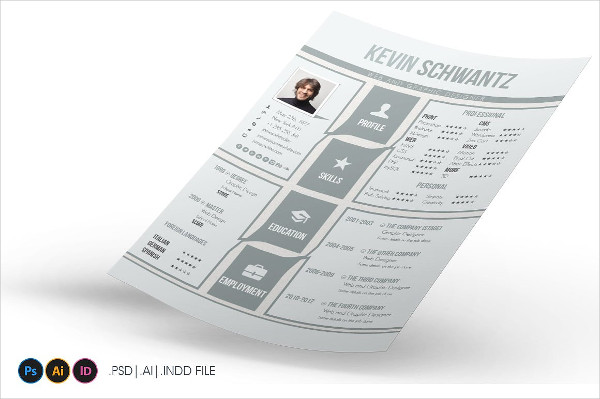 sample one page resume template
